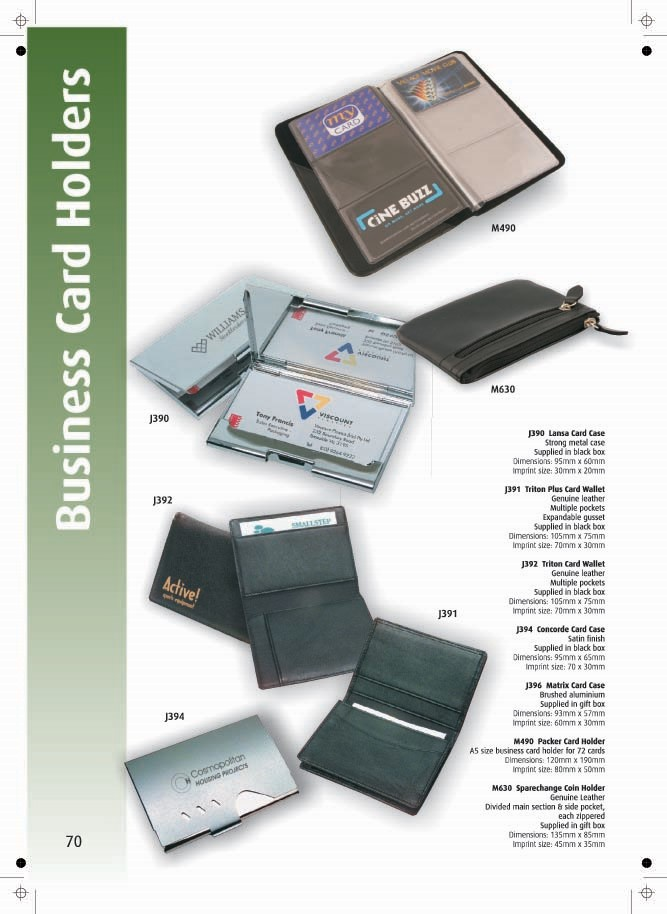 Page 70 - Business Card Holders