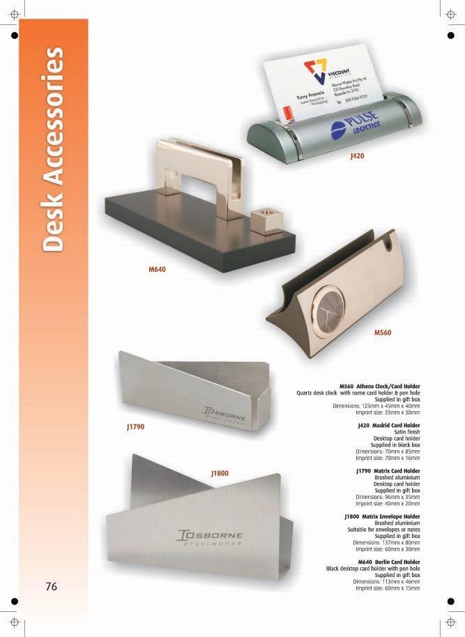 Page 76 - Desk Accessories